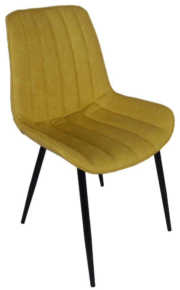 TEMPO KONDELA Hazal jedálenská stolička žltá / čierna