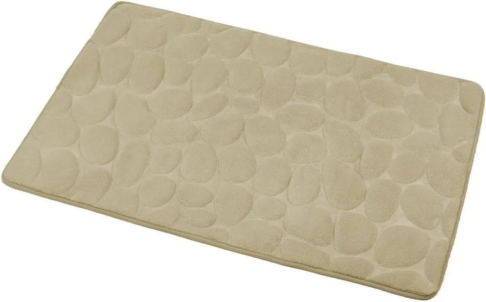 Aqualine KA1142 kúpeľňová predložka, 50x80 cm, 100% mikrovlákno, protišmyk, béžová