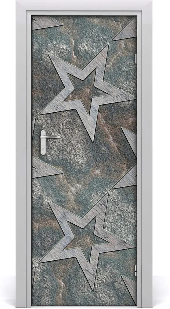 Samolepící fototapeta na dveře Kamenné hvězdy