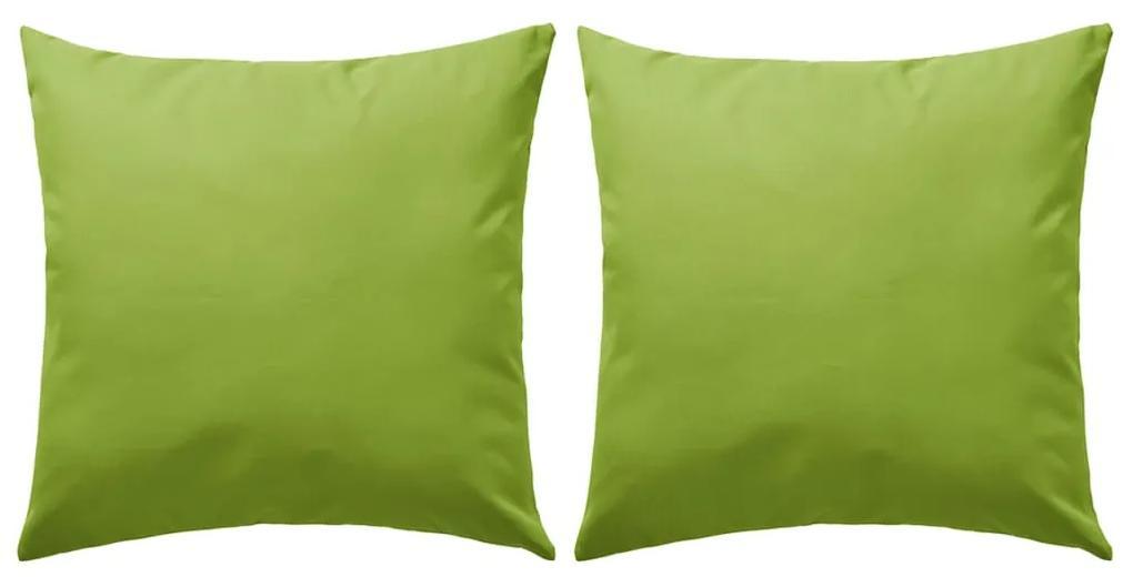 vidaXL Vankúše do exteriéru 2 ks jablkovo zelené 60x60 cm