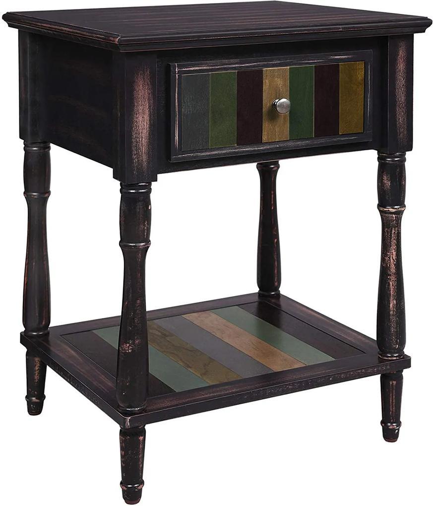 VASAGLE Odkladací stolík so zásuvkou 50x45 cm