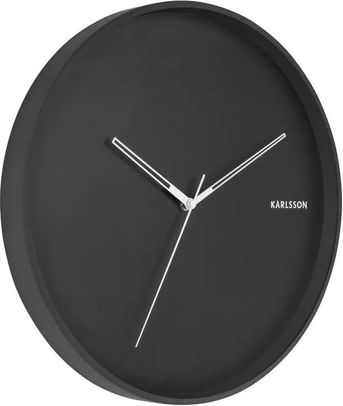 KARLSSON Nástenné hodiny Hue Metal čierna