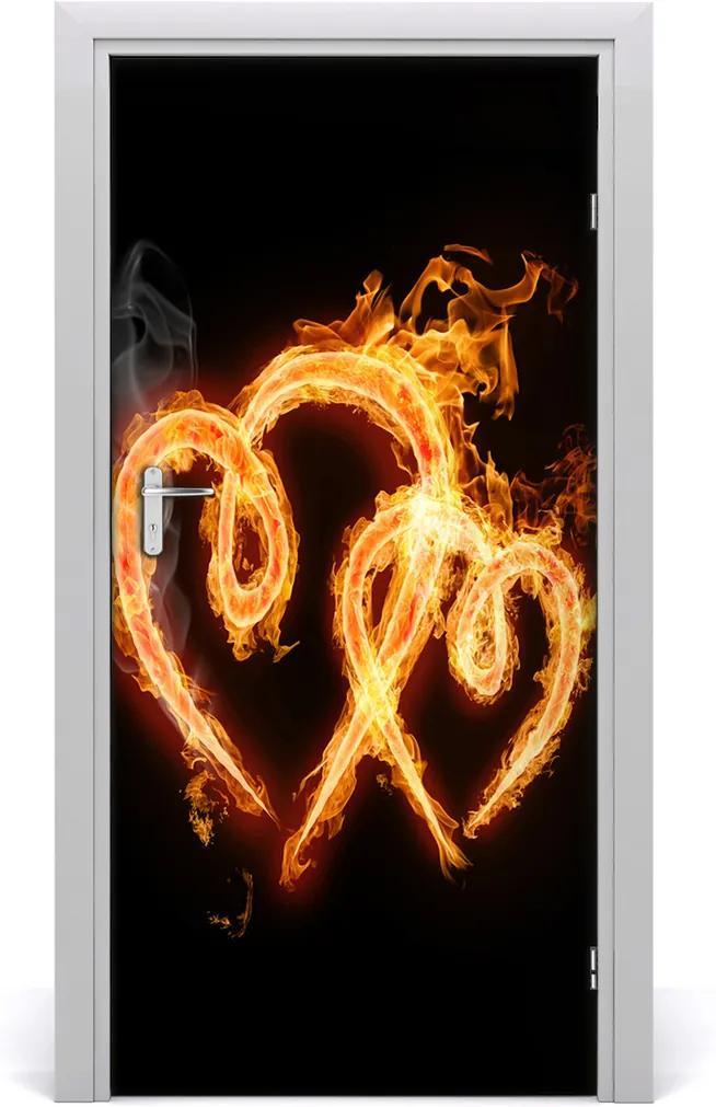 Fototapeta na dveře Hořící srdce