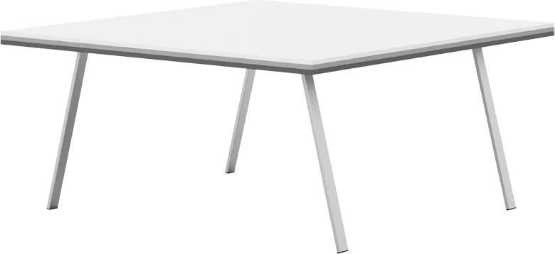 Rokovací stôl Gray LAYERS biela / sivá / grafitová 1600 1600 750 LAYERS