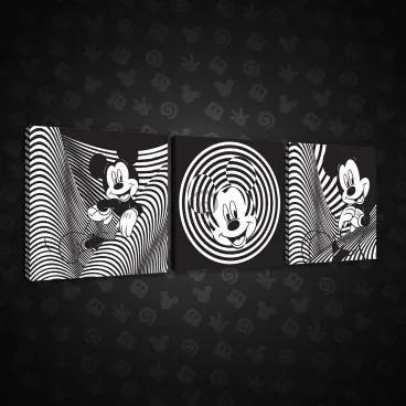 Obraz na plátne viacdielny - OB2602 - Mickey Mouse 75cm x 25cm - S13