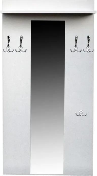 Vešiaková stena do predsiene 80 cm so zrkadlom a policou - vešiak 4+1 - Černá struktura
