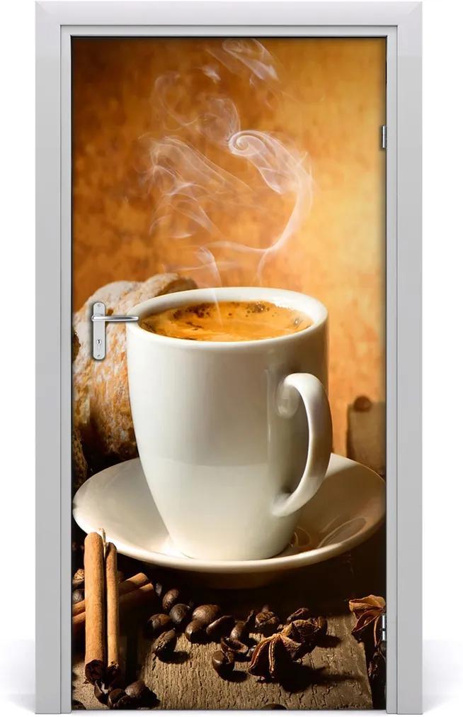 Samolepící fototapeta na dveře Šálek kávy
