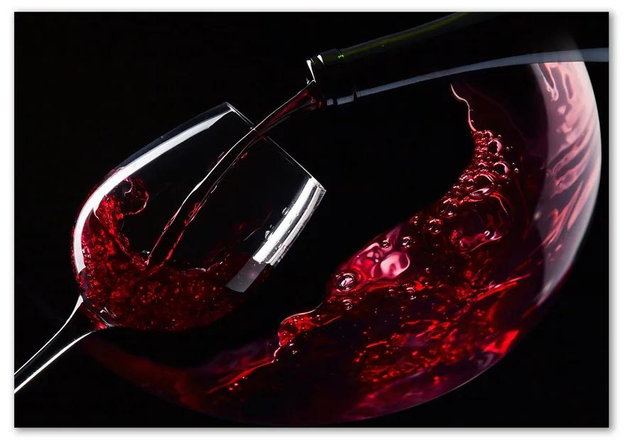 Foto obraz sklo tvrdené Červené vína pl-osh-100x70-f-54930015