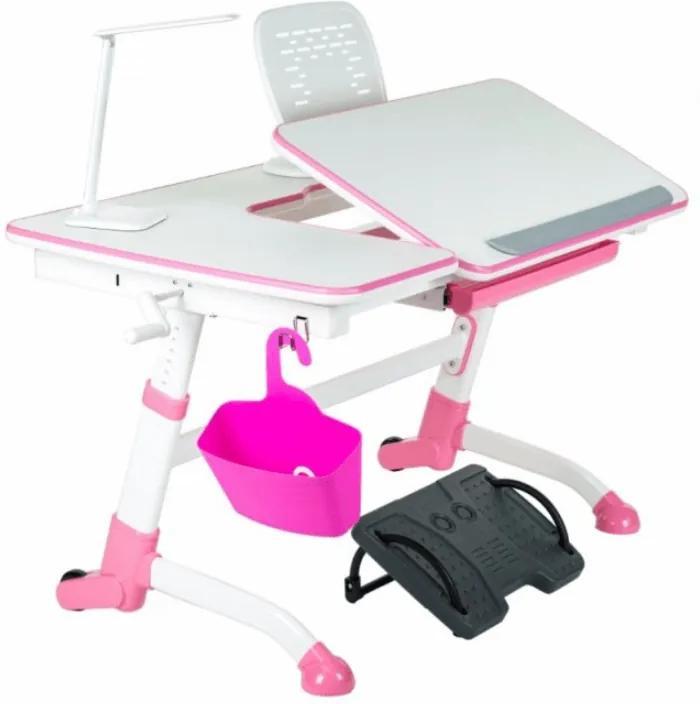 FD Rastúci písací stôl Amorto Farba: Ružová