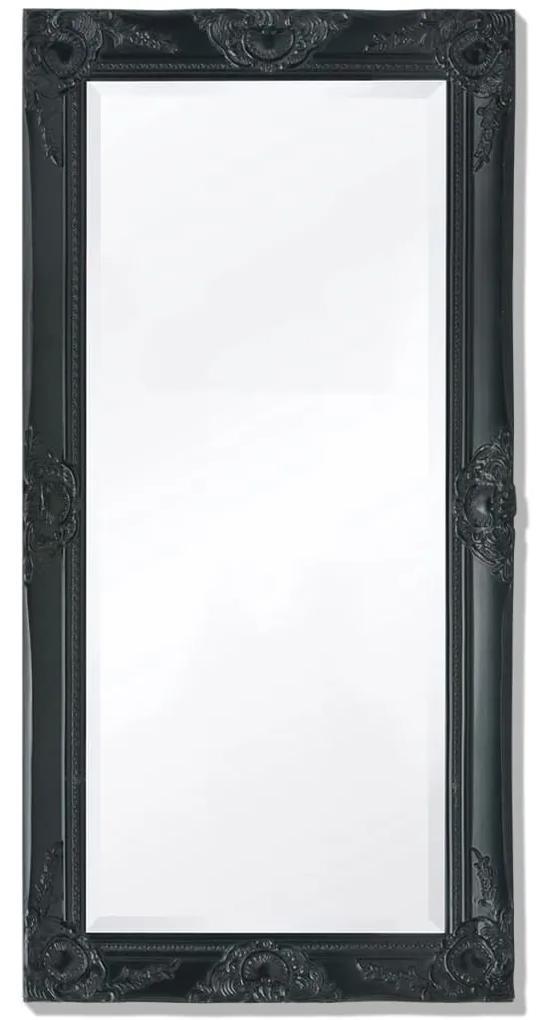 vidaXL Nástenné zrkadlo v barokovom štýle, 100x50 cm, čierne