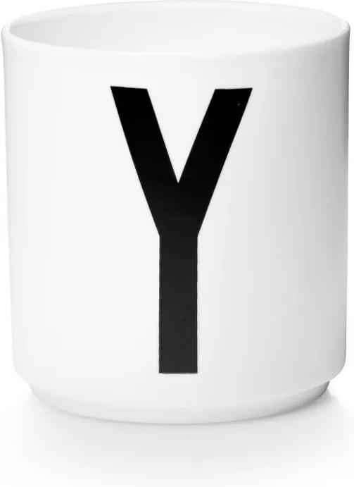 Design Letters Hrnček s písmenom Y, white