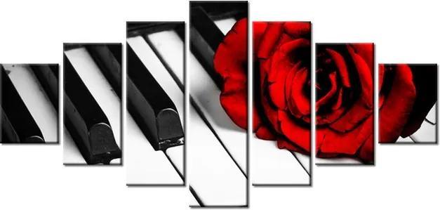 Tlačený obraz Ruža na klavíri 210x100cm 1229A_7A
