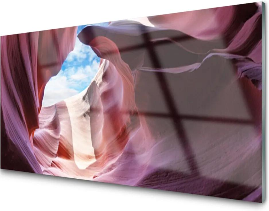Obraz na akrylátovom skle Skalka Rieka Koryto Umenie