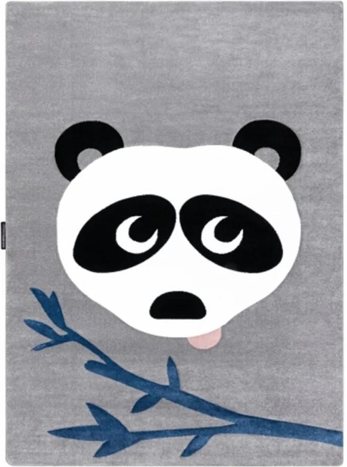 Detský kusový koberec Panda sivý, Velikosti 180x270cm