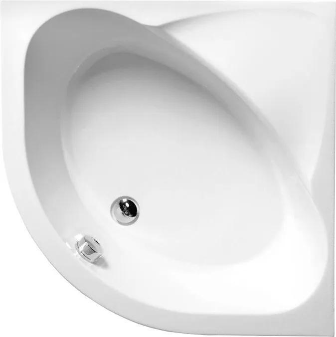 POLYSAN - SELMA hluboká sprchová vanička, čtvrtkruh 90x90x30cm, R550, bílá (28611)
