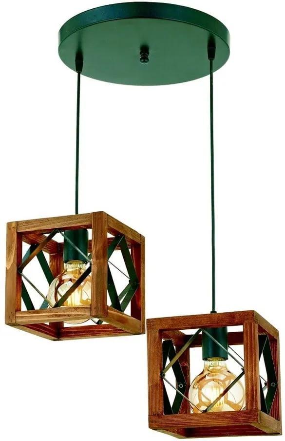 Závesné svietidlo z hrabového dreva Zikzak Tepsili