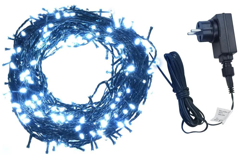 vidaXL Svetelná reťaz 600 LED interiér a exteriér IP44 60 m studené svetlo