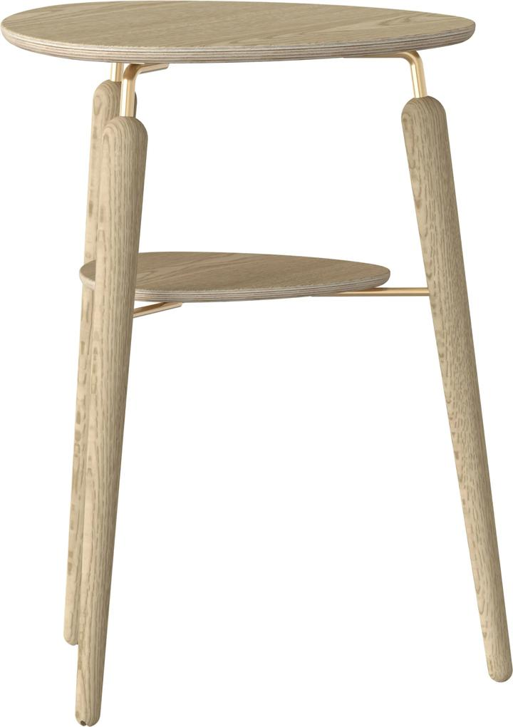Odkladací stolík My Spot dub / mosadz - UMAGE