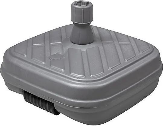 DOPPLER Plastový plniteľný sokel DESIGN s kolieskami 50 kg (antracit)