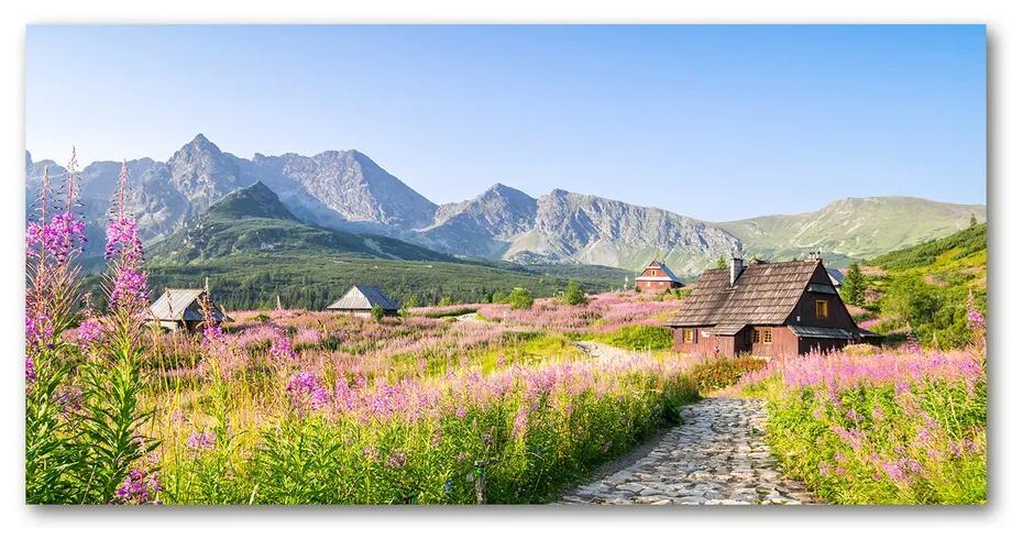 Foto obraz akrylový na stenu Domčeky v horách pl-oa-140x70-f-90098550