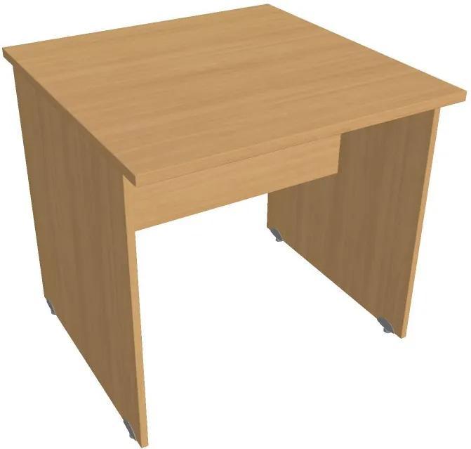 Stôl rokovací rovný, 800 x 800 x 755 mm, buk