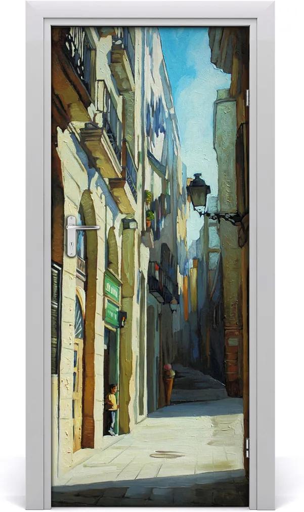 Fototapeta samolepící na dveře Ulice barcelony