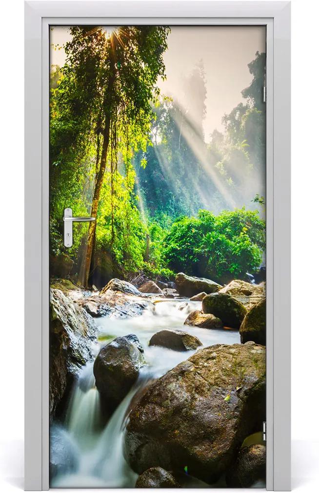Fototapeta na dveře Vodopád v lese