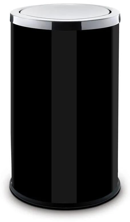 Alda Odpadkový kôš 18 L, s výkyvným vekom, lakovaný čierny