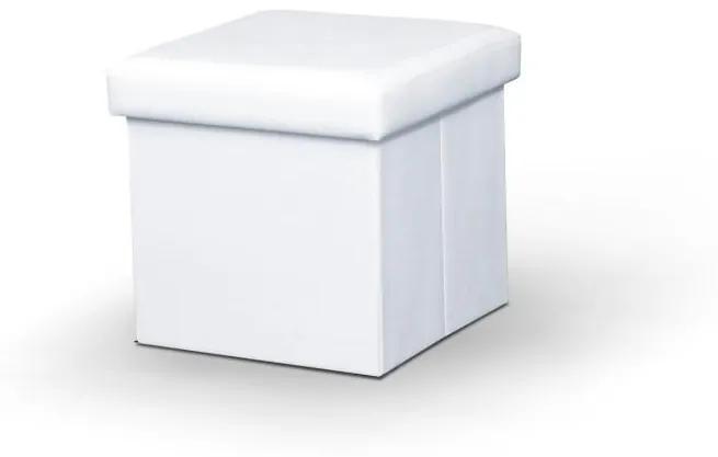 TEMPO KONDELA Tela New taburetka s úložným priestorom biela