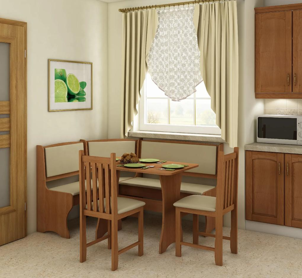 WIP Rohový set so stoličkami Prevedenie: Jelša / Eco béžová / Stolička B