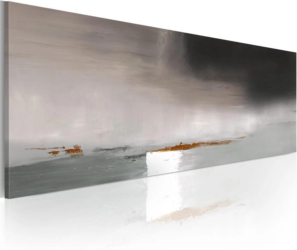 Ručne maľovaný obraz - Duskiness full of expression 100x40