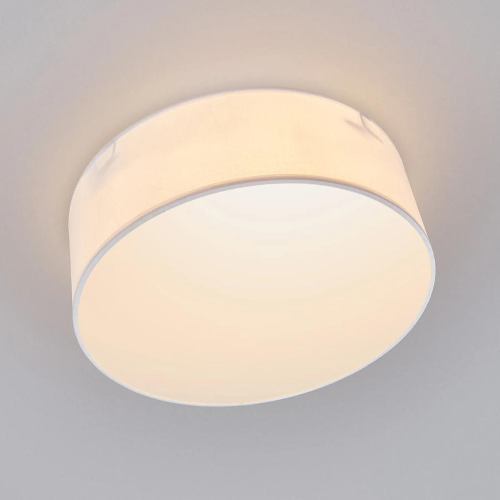 Biele textilné svietidlo Ceiling Dream 30 cm