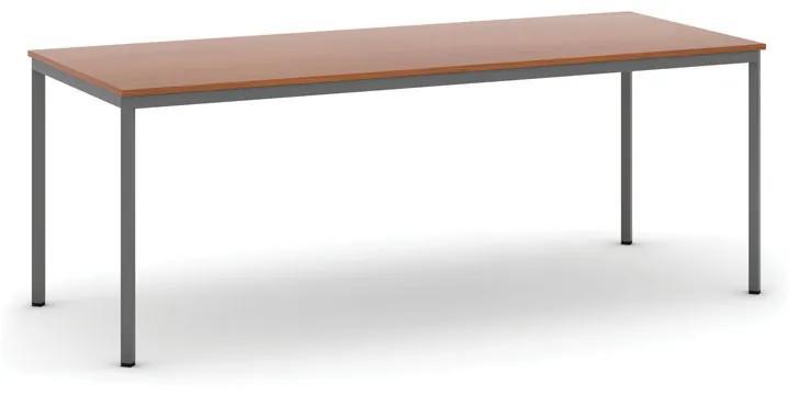 Stôl jedálenský, 2000 x 800 mm doska čerešňa, podnož tm. sivá