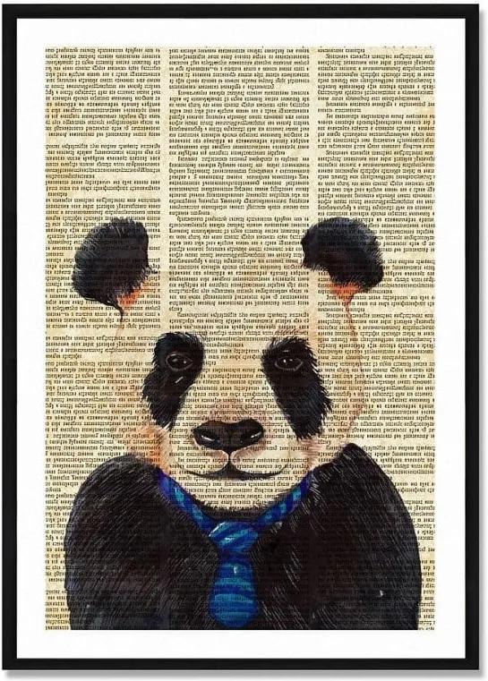Obraz Really Nice Things Newspaper Panda, 40 × 60 cm