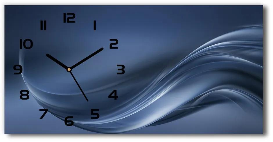 Moderné sklenené hodiny na stenu Sedá vlna pl_zsp_60x30_f_110732966