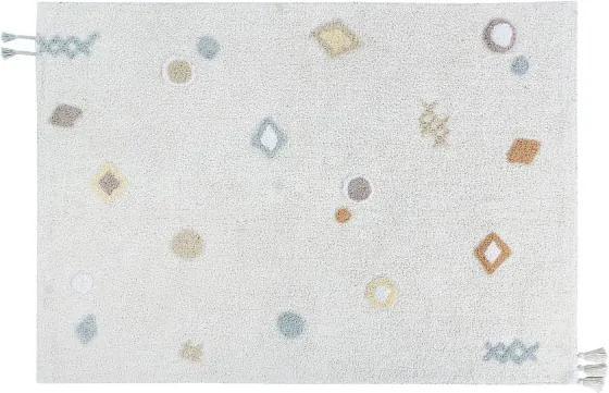 LC Ručne vyrobený koberec NOAH Farba: Biela