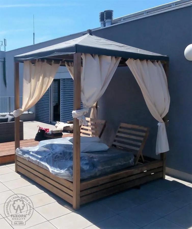 FKP -  DAYBED - teaková posteľ