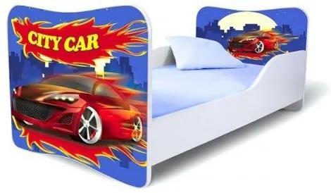 MAXMAX Detská posteľ CITY CAR + matrac ZADARMO 160x80 pre chlapca NIE