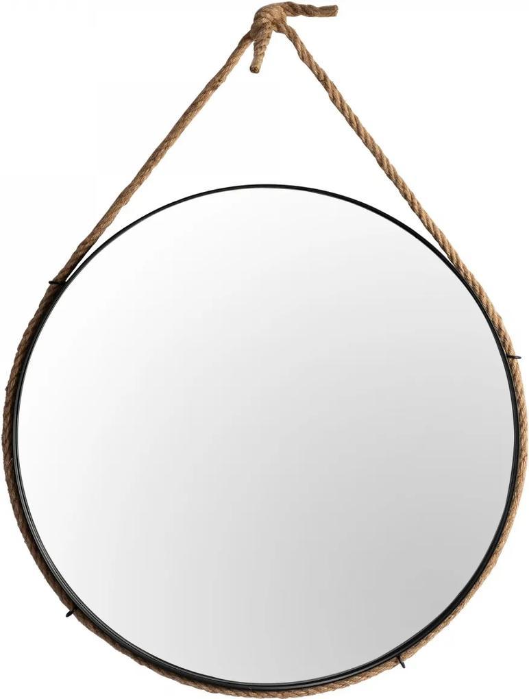 Tutumi Guľaté zrkadlo Loft CORD 60 cm čierne