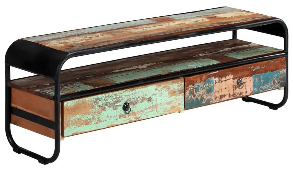 vidaXL TV skrinka 120x30x40 cm masívne recyklované drevo