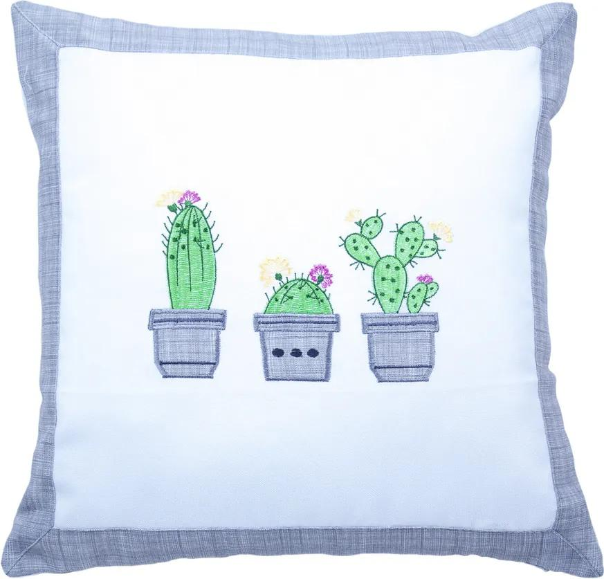 BO-MA Trading Obliečka na vankúšik Kaktus, 40 x 40 cm