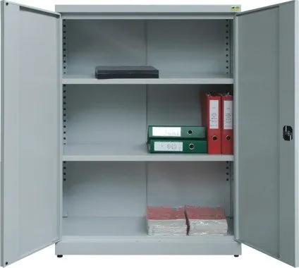 NABBI SBN1000 nízka kancelárska skriňa s nastaviteľnými policami svetlosivá