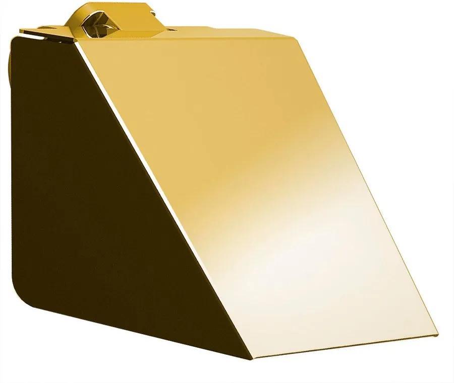 Soul 164943 držiak toaletného papiera s krytom, zlato