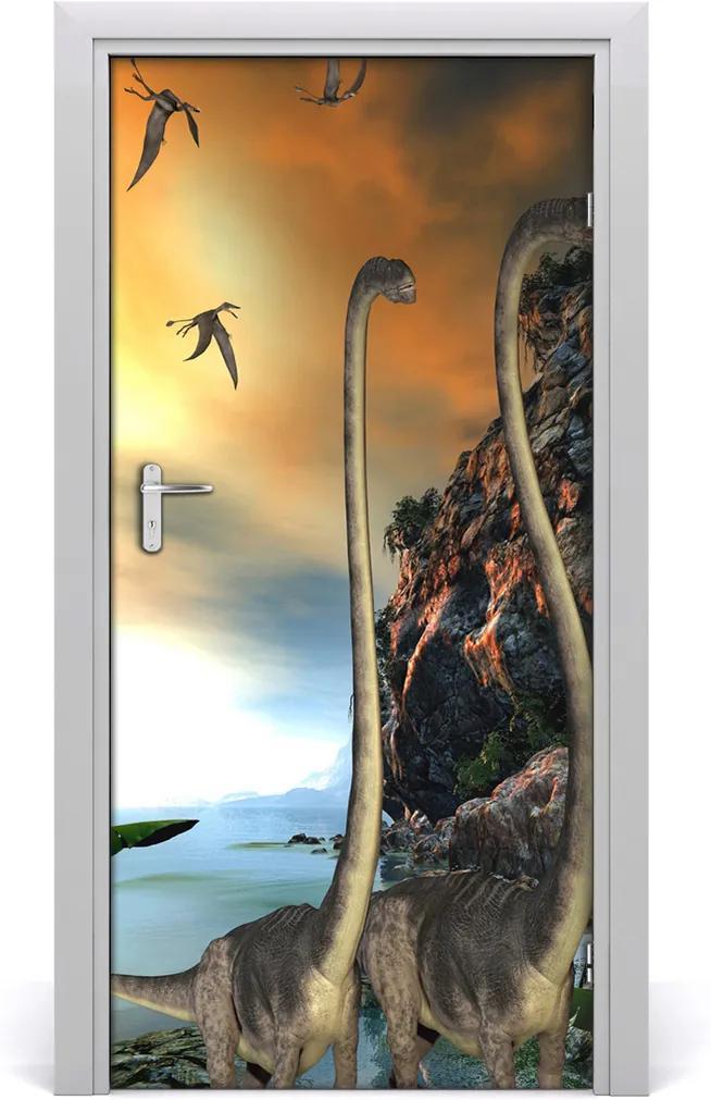 Samolepící fototapeta na dveře Dinozaury