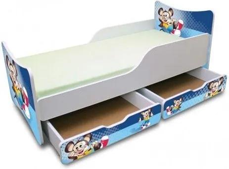 MAXMAX Detská posteľ 200x90 cm so zásuvkou - Myšiak 200x90 pre chlapca ÁNO