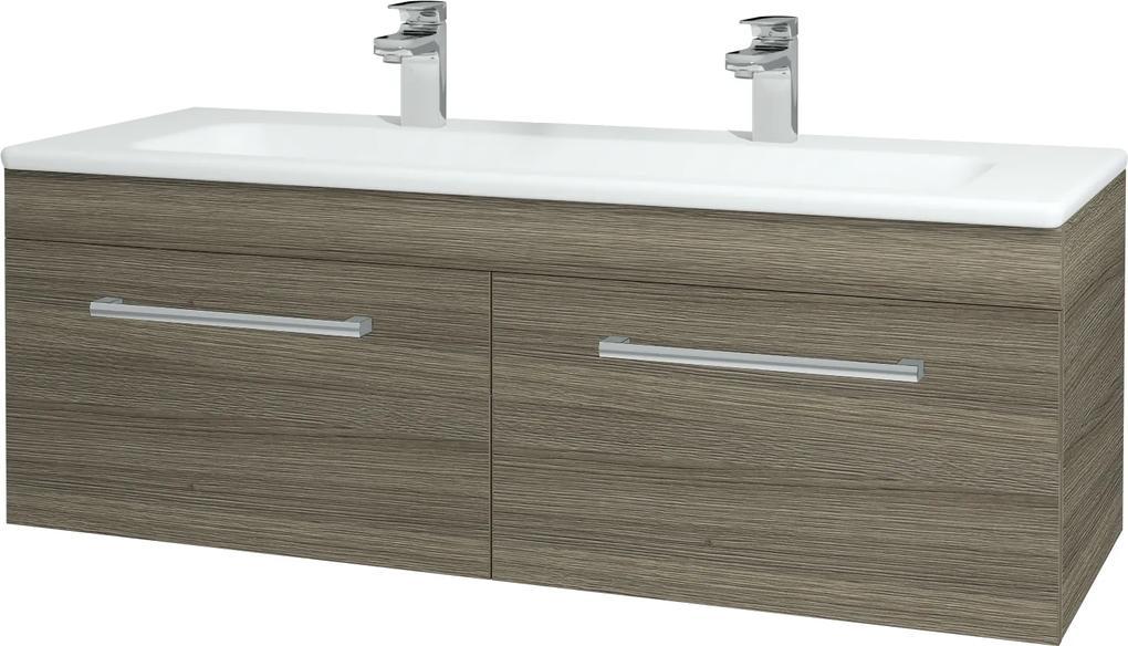 Dřevojas - Koupelnová skříň ASTON SZZ2 120 - D03 Cafe / Úchytka T03 / D03 Cafe (131531CU)