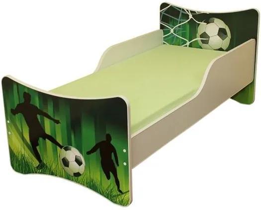 MAXMAX Detská posteľ 160x80 cm - FUTBAL 160x80 pre chlapca NIE