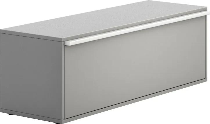 Skrinka nízka dlhá Gray BOARDS výklopné 410 1200 400 sivá sivá BOARDS