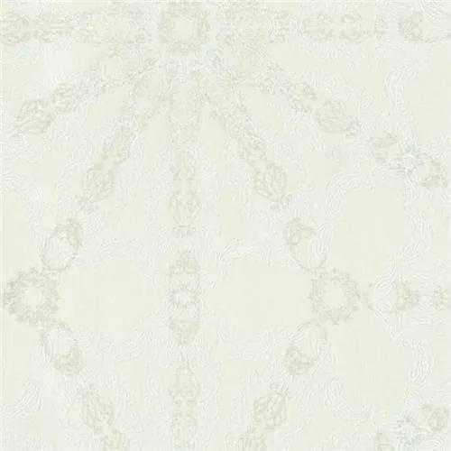 Luxusné vliesové tapety na stenu G.M.Kretschmer Deluxe 41007-10, lesklý strieborný vzor na krémovom podklade, rozmer 10,05 m x 0,53 m, P+S International