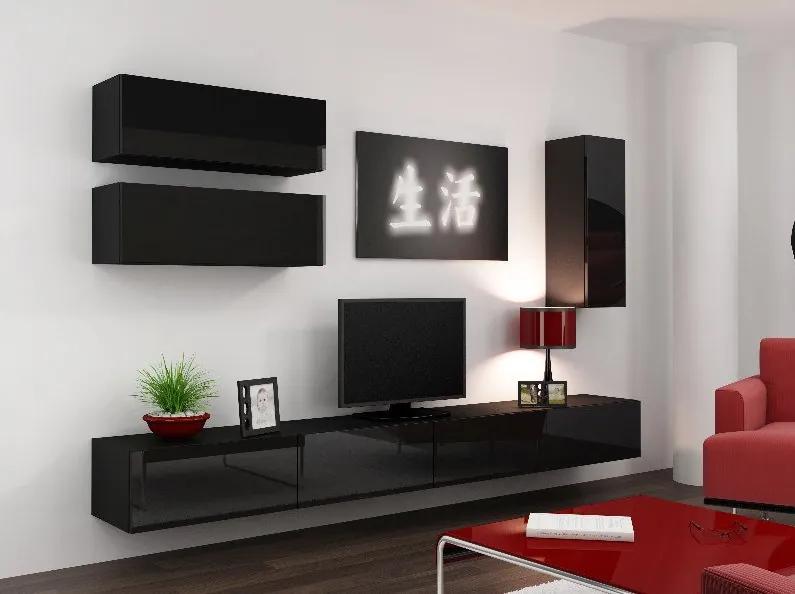 CAMA MEBLE Obývacia stena VIGO 13 Farba: čierna